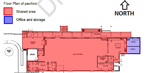Plan of Clubhouse layout