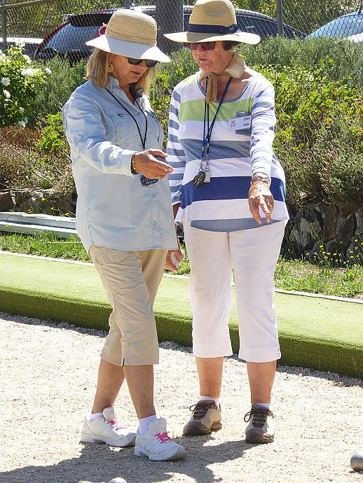 Petanque is played between teams of 2 or 3 players