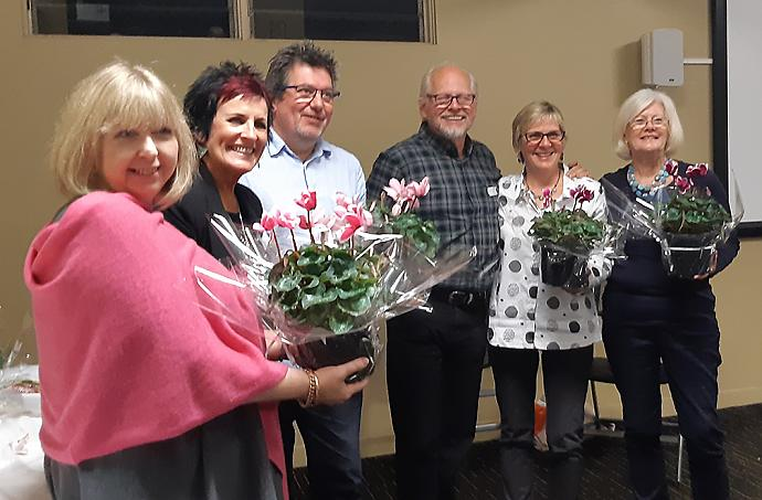 Winners Table; Julie, Sparkzey, Mark, Heinz, Jenny, Kathy