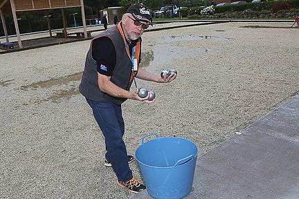 Boules drawn 'out of the bucket' make up competing teams of pairs